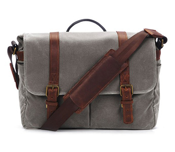 The Brixton Camera and Laptop Messenger Bag (Smoke)